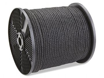 Rope Braided Black PK60 6mm (per 10m)